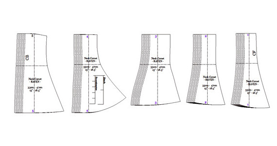 Neck Corset Raven Corset Diagram