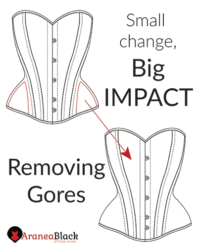 Tutorial on how to remove hi gores on corset patterns