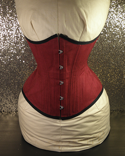 sonya underbust corset in red 001