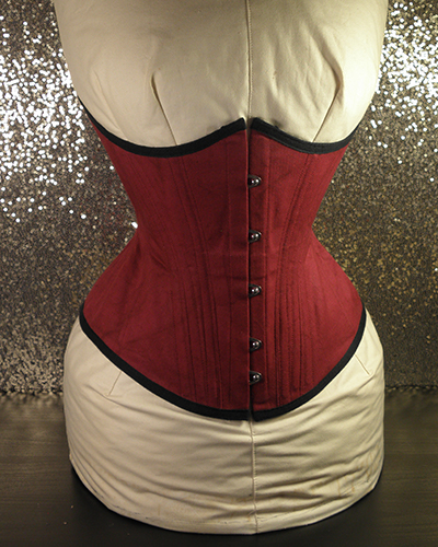 sonya underbust corset in red 002