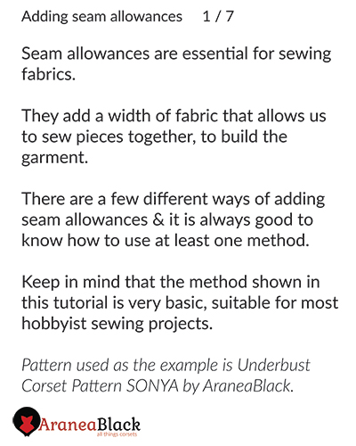 Introduction of importance of adding seam allowances