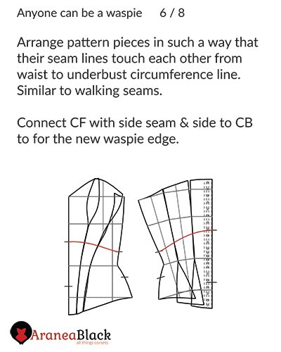 How to prepare your corset pattern to draw the new top edge