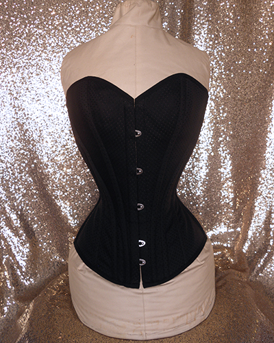 Dolored overbust corset front