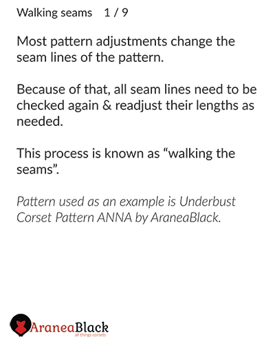 Explanation of term walking seams