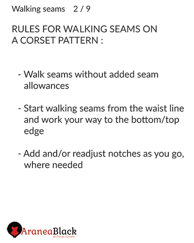 Rules on how to walk seams