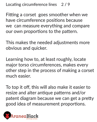 Benefits of having circumference lines on a corset pattern