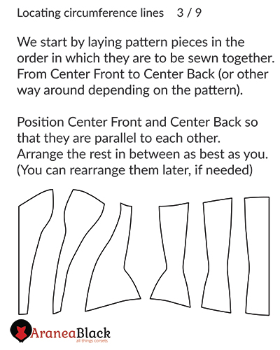 Starting with a clean corset pattern