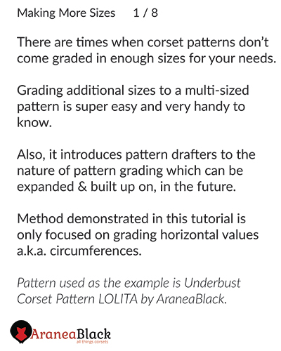 Introduction to the importance of making more corset pattern sizes