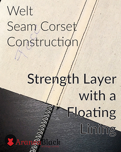 Front page for the tutorial on how to sew a corset using welt seam construction strength layer with a floating lining