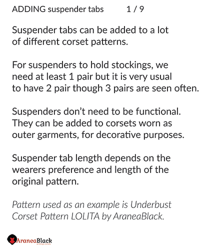 Introduction into the tutorial on how to add suspender tabs to a corset pattern