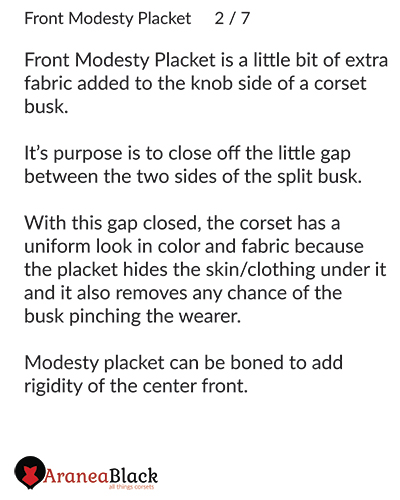 Explanation on what is a front modesty placket