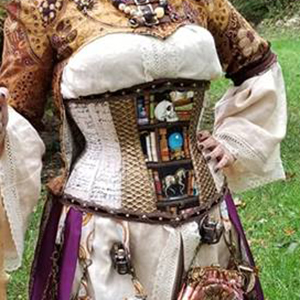 Steampunk wizard inspired underbust corset based on corset pattern nora