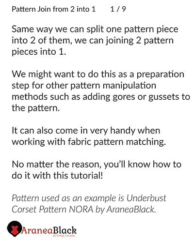 Introduction to the method of joining corset pattern pieces