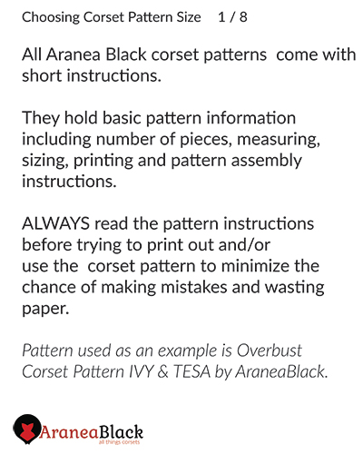 Introduction into choosing a corset pattern size