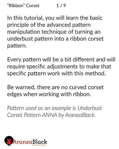 Instructions on how to make a ribbon template ruler