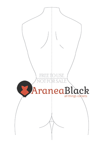 Free corset fashion figure template back example