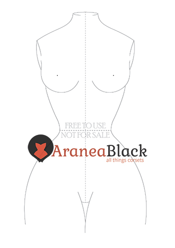 Free corset fashion figure template front example