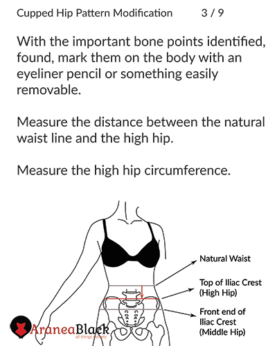 How to measure the high hip circumference for corsets