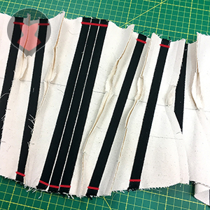 Closing boning channel with another line of stitching