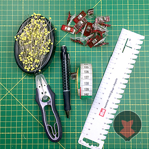 Tools needed for fitting basic corset mock up