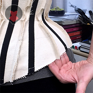 Fitting a corset mock up that is too large
