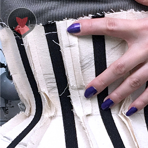 Marking the part of basic corset mock up that needs more room