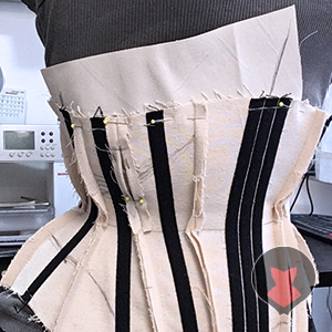 Marking the front and side seams