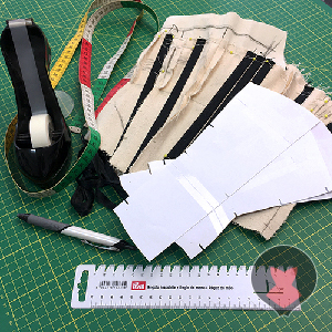Corset mock up, corset pattern and drafting tools