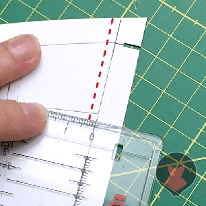 Measuring difference from original and adjusted seam line on pattern