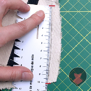 Measuring length of adjustment from edge of the mock up