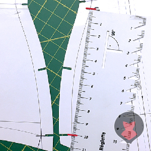 Transferring the adjustment length from mock up to corset pattern