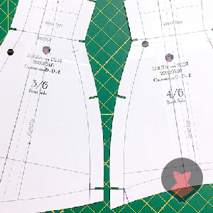 Preparing corset pattern pieces affected by adjustment