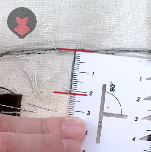 Measuring distance between new and old edges following corset mock up seam lines