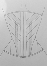 Back view corset design idea two