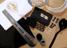 Corsetmaking supplies for making of diagonal seam corset