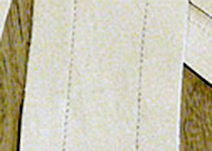 Seam lines sewn through fabric with an empty needle for marking purpose