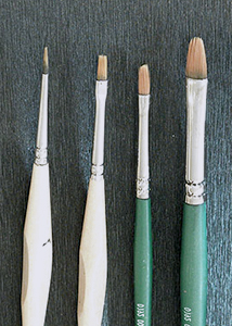 Brushes for fabric painting